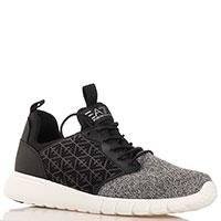 Текстильные кроссовки Emporio Armani на шнуровке, фото