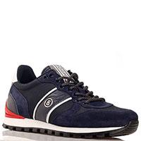 Синие кроссовки Bogner с замшевыми вставками, фото