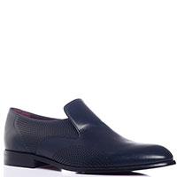 Темно-синие туфли Valentino с перфорацией, фото