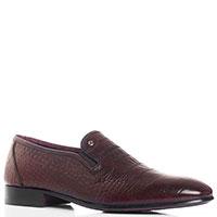 Туфли-лоферы Mario Bruni с тиснением бордового цвета, фото