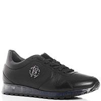 Черные кроссовки Roberto Cavalli с прозрачной подошвой, фото