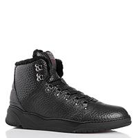 Черные ботинки Stokton из крупнозернистой кожи, фото