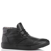 Черные ботинки FABI из зернистой кожи, фото