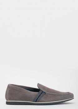 Туфли-лоферы FABI из серой замши, фото
