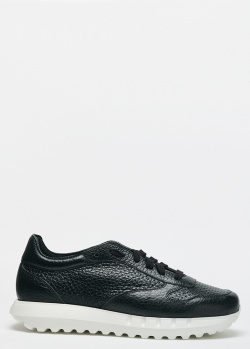 Черные кроссовки Stokton из крупнозернистой кожи, фото