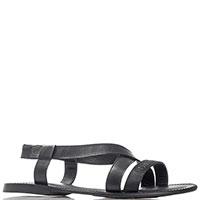 Черные сандалии Fiorangelo из гладкой кожи, фото