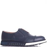 Синие туфли Gianfranco Butteri с открытой шнуровкой, фото