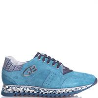 Голубые кроссовки Gianfranco Butteri на рельефной подошве, фото