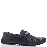 Темно-синие туфли Bally с тиснением под рептилию, фото