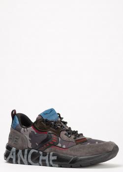 Серые кроссовки Voile Blanche с принтом на подошве, фото