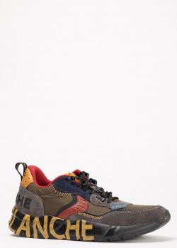 Замшевые кроссовки Voile Blanche с контрастными деталями, фото