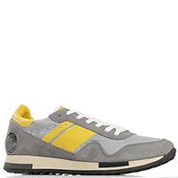 Серые кроссовки Quattrobarradodici с желтыми вставками, фото