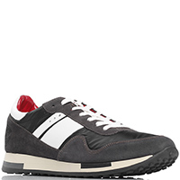 Замшевые кроссовки Quattrobarradodici коричневого цвета, фото