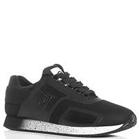 Черные кроссовки Trussardi Jeans из текстиля, фото