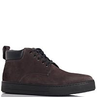 Замшевые ботинки Trussardi Jeans темно-коричневого цвета, фото