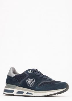Кроссовки Blauer из синей замши, фото