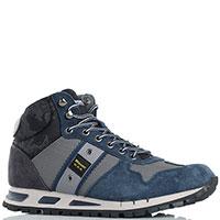 Высокие кроссовки Blauer синего цвета, фото
