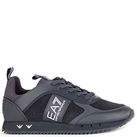 Синие кроссовки Ea7 Emporio Armani с логотипом, фото