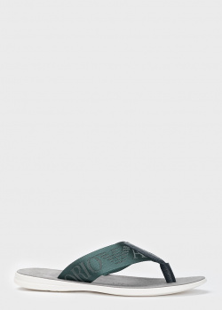 Синие шлепанцы Emporio Armani на белой подошве, фото