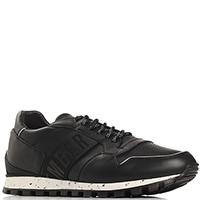 Черные кроссовки Bikkembergs из гладкой кожи, фото