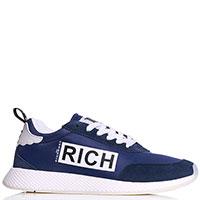 Синие кроссовки John Richmond из текстиля, фото