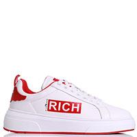 Белые кеды John Richmond с вставками красного цвета, фото