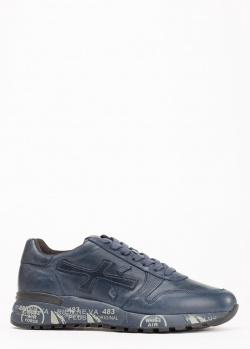 Кроссовки Premiata из кожи синего цвета, фото
