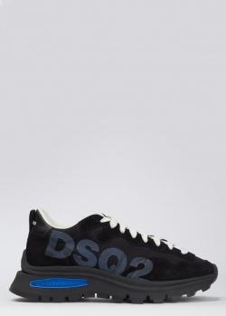 Мужские кроссовки Dsquared2 с цветной вставкой, фото