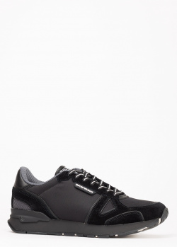 Кроссовки Emporio Armani из черной замши, фото