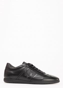 Черные кроссовки Roberto Cavalli из гладкой кожи, фото