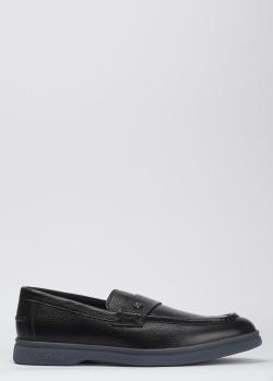 Черные лоферы Baldinini из кожи, фото