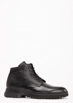 Черные ботинки Gianfranco Butteri утепленные мехом, фото