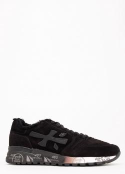 Зимние кроссовки Premiata из черной замши, фото