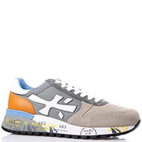 Бежевые кроссовки Premiata с цветными вставками, фото