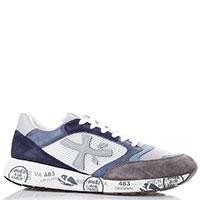 Мужские кроссовки Premiata серо-синего цвета, фото
