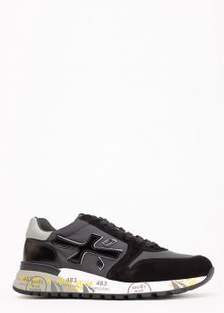 Черные кроссовки Premiata из замши и текстиля, фото