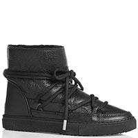 Черные ботинки Inuikii с декоративной шнуровкой, фото