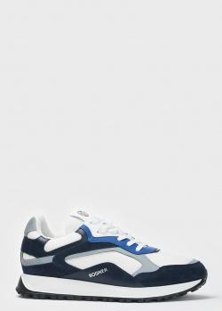 Синие кроссовки Bogner с белыми вставками, фото