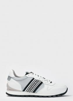 Белые кроссовки Bogner с полосками, фото