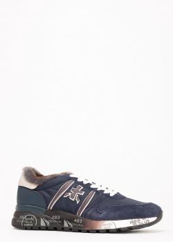 Зимние кроссовки Premiata синего цвета, фото