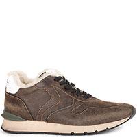 Коричневые кроссовки Voile Blanche на шнуровке, фото