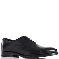 Туфли-оксфорды Henderson Baracco из гладкой черной кожи, фото