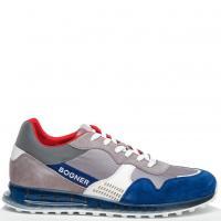 Мужские кроссовки Bogner из синей замши, фото