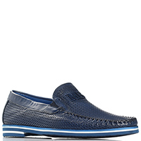 Синие туфли Mario Bruni из мягкой кожи, фото