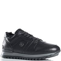 Мужские кроссовки Bogner из кожи черного цвета, фото