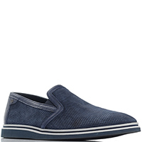 Замшевые туфли Gianfranco Butteri со вставками из кожи, фото