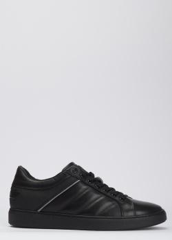 Кожаные кеды Baldinini черного цвета, фото