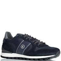 Синие кроссовки Bogner на белой подошве, фото