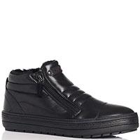 Утепленные ботинки Baldinini из кожи черного цвета, фото