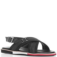 Черные сандалии Baldinini на цветной подошве, фото